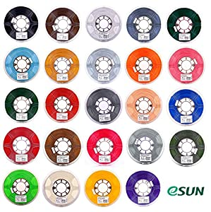 eSUN 3mm PLA PRO (PLA+) 3D Printer Filament 1KG Spool (2.2lbs), Actual Diameter 2.85mm +/- 0.05mm, 24 Colors to choose by ESUN