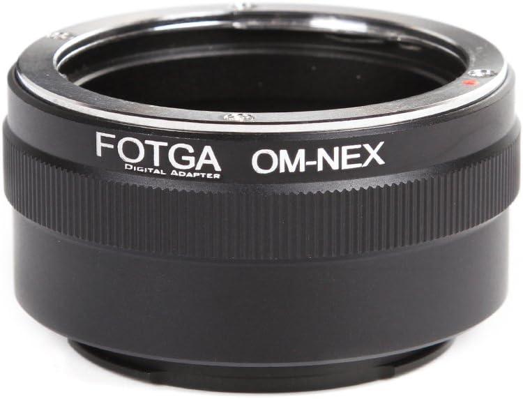 FocusFoto FOTGA Adapter Ring for Olympus OM Lens to Sony E-Mount Mirrorless Camera NEX-5R 5T 5N NEX-6 NEX-7 a7 a7S a7R a7II a7SII a7RII a6500 a6300 a6000 a5100 a5000 a3500 NEX-FS700 VG30 VG900 PXW-FS7