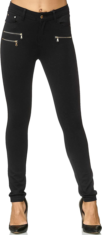 Elara Pantalones Elásticos de Mujer Skinny Fit Jegging Chunkyrayan