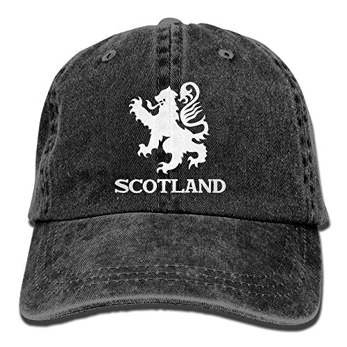 Lion Rampant Scotland Scottish Washed Retro Adjustable Cowboy Cap Trucker Hats For Women And - Retro Cowboy