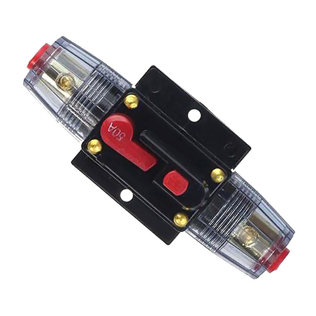 MonkeyJack 20-100A 12V DC Circuit Breaker Fuse for Car Audio Inline System Protection 20A