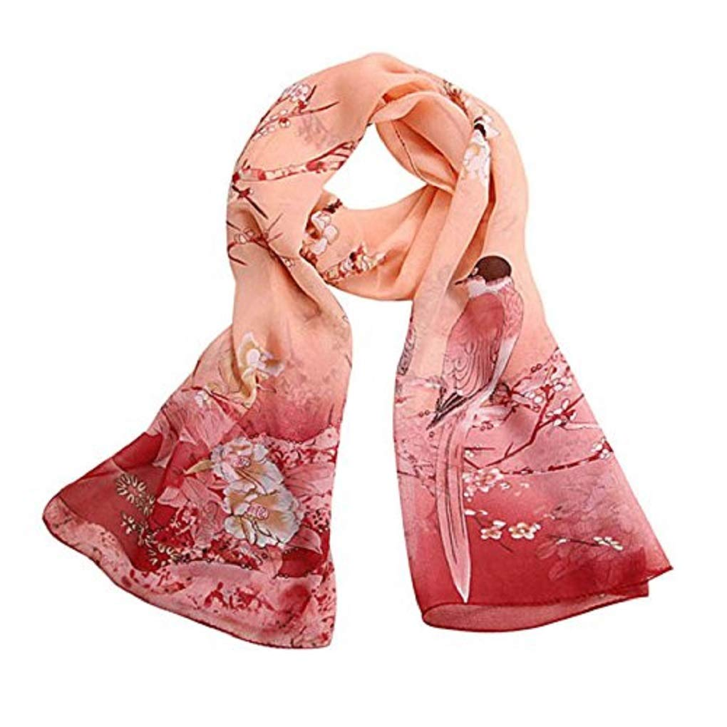 OYSOHE Chiffon Soft Neck Scarf Shawl Scarves Stole Wraps Fashion Women Scarf Soft Breathable Print Pattern Shawl Long Ladies Wrap Sheer Scarves