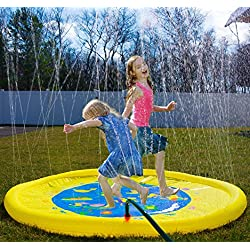 "Splashin'kids 68"" Sprinkle and Splash Play Mat toy is for children infants toddlers,boys, girls and kids - perfect inflatable outdoor sprinkler pad"