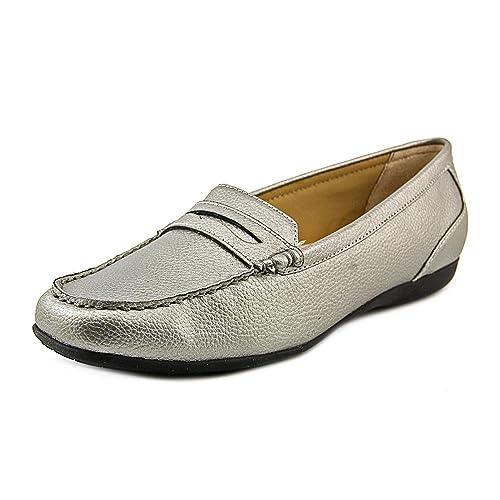 Trotters Francie Mujer US 12 Plata Estrechos Mocasín: Amazon.es: Zapatos y complementos