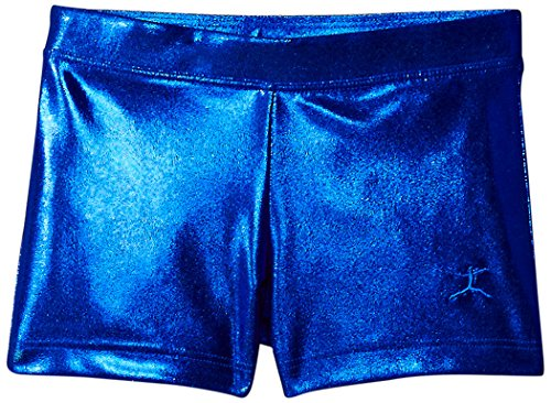 Danskin Little Girls' Gymnastics Basics Short, Royal Blue, (Kids Royal Blue Apparel)