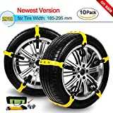 [2018 NEWEST VERSION] Snow Chain, Snow Tire Chains for SUV/Trucks Adjustable Truck Snow Tire Chains Snow Chains for Car Anti-Slip Tire Chains for Snow Tires Width with 7.3-11.6''/Set of 10