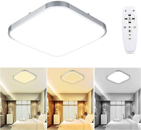 24W RGB LED Deckenlampe Deckenleuchte Dimmbar Fernbedienung Wandlampe Esszimmer