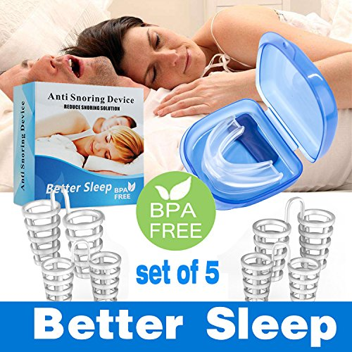 Joruby Anti Snoring Aids Snore Reducing Nose Vents Snoring Solution Reducing Aids for Natural and Comfortable Sleep with Travel Case, Soft, Comfortable & Flexible