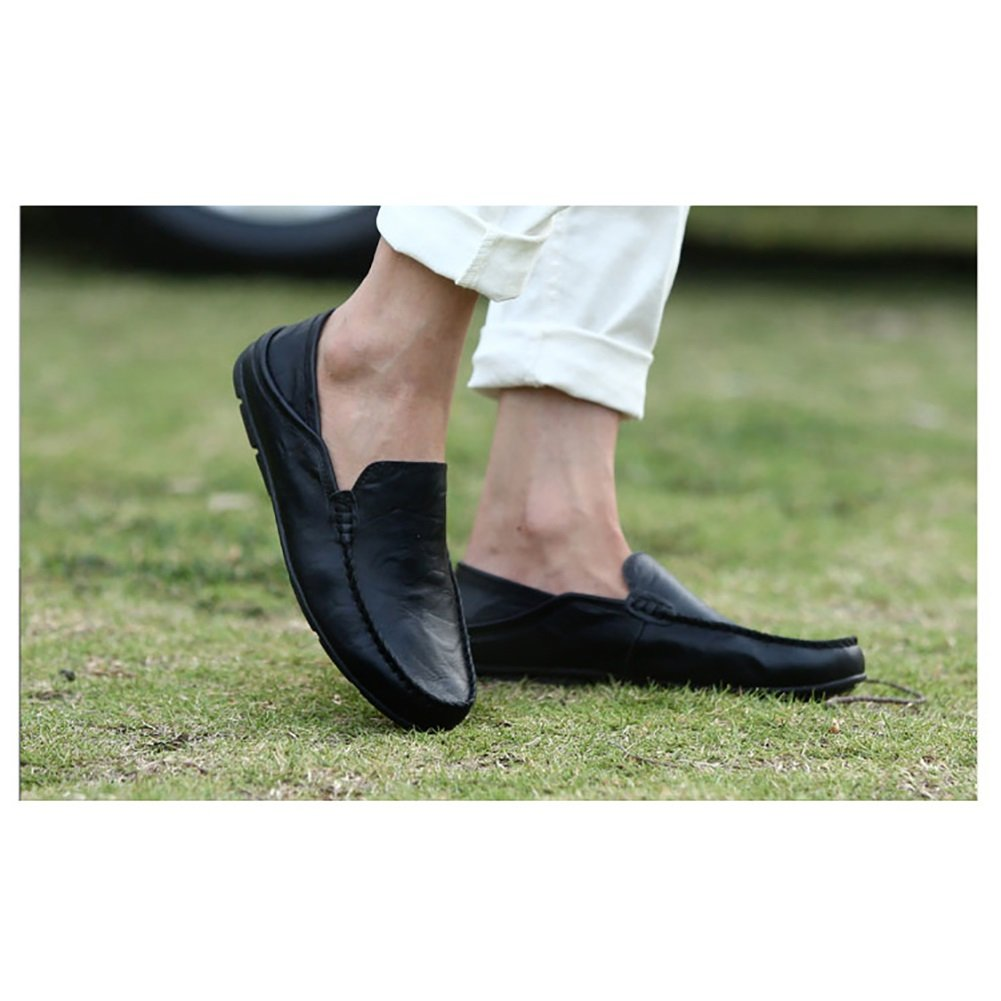 Spring Fall Walking Driving Shoes Flat Shoes Mens Fashion Shoes Comfort Breathable Mens Shoes Color : Black, Size : 42 GFP Mens Leather Shoes,Loafers Shoes