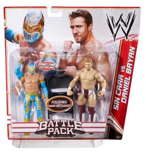WWE Battle Pack: Sin Cara vs. Daniel Bryan Figure 2-Pack Series 15 by Mattel