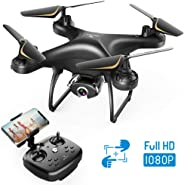 SNAPTAIN SP650 1080P Drone with Camera for Adults 1080P HD Live Video Camera Drone for Beginners w/Voice Control, Gesture Co