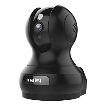 [2015 New Model] Network IP Camera, MAISI Indoor Wireless Day Night Pan/