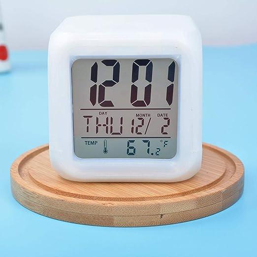 Mzbbn Despertadores Colorido Despertador Que Cambia De Color Reloj ...