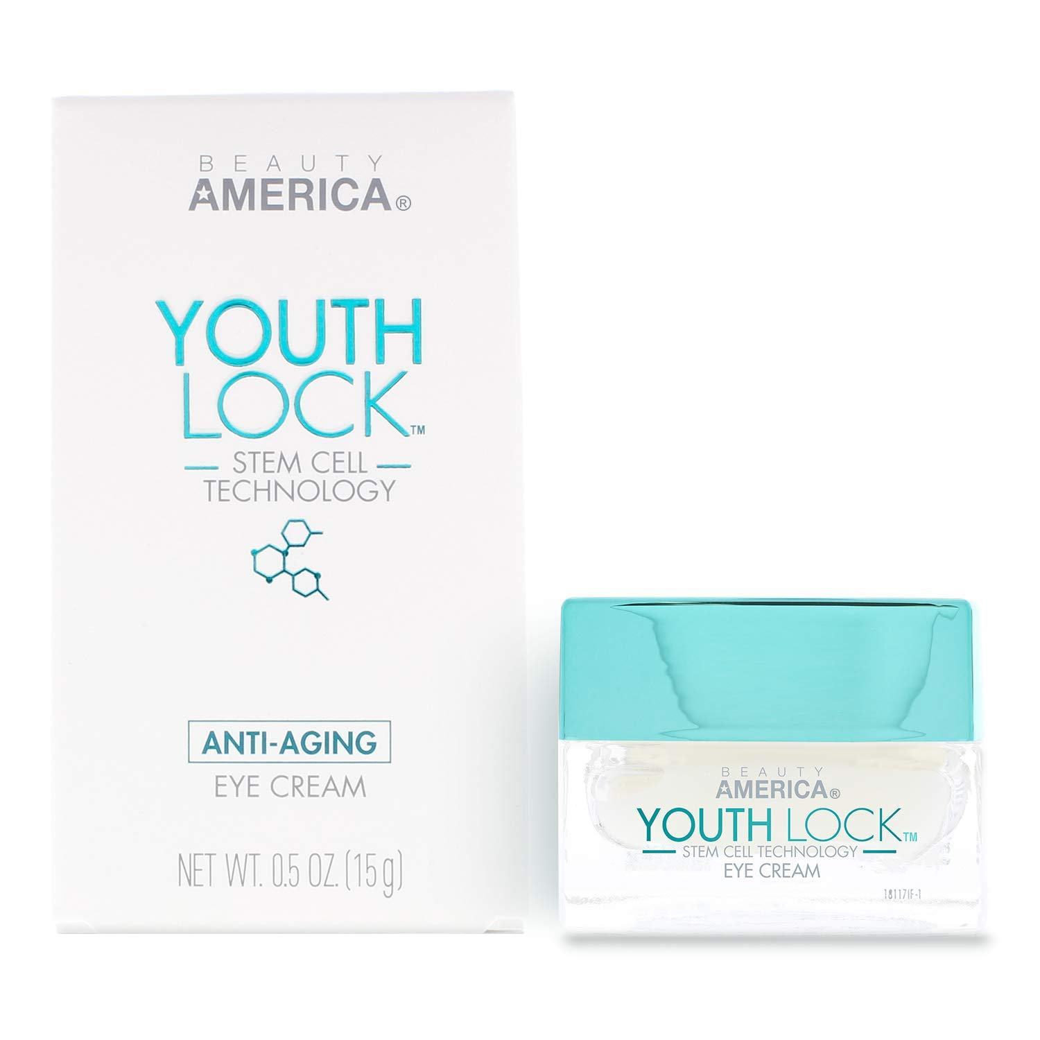 Beauty America Youth Lock, Advanced Anti-Aging, Stem Cell Eye Cream, 0.5 oz, Beige by Beauty America
