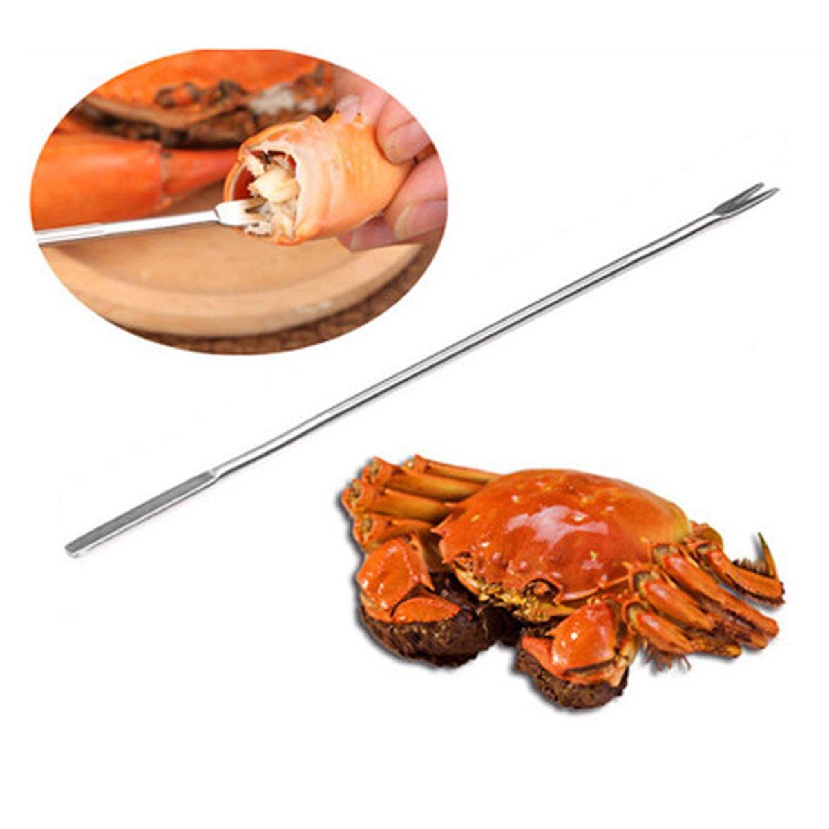 Justdolife Crab Forks Seafood Tool Multifunctional Crab Lobster Nut Fork Pick Kitchen Tool Kitchen Gadget