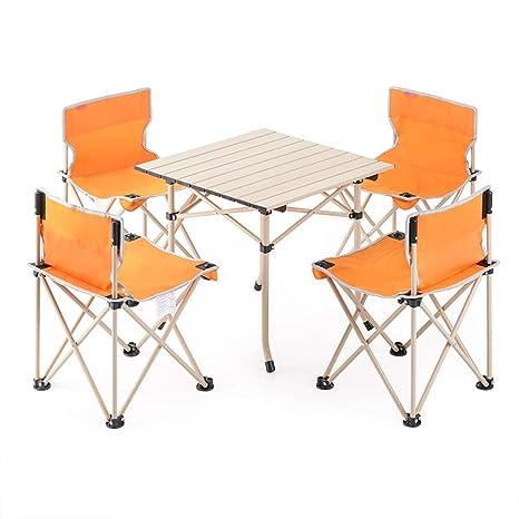 Mesa de comedor portátil de camping ligero Mesa plegable ...
