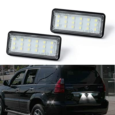 License Plate Light, Gempro 2Pack LED License Plate Lamp Assembly Replacement For Lexus GX470 LX470 LX570 Toyota Land Cruiser Cygnus 100-Series: Automotive