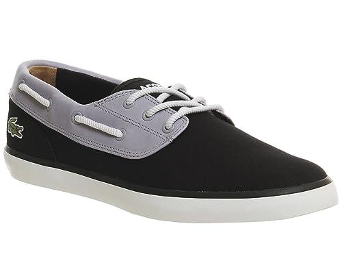 Lacoste Hombres Negro Jouer Deck 117 1 CAM Zapatos-UK 9: Amazon.es: Zapatos y complementos
