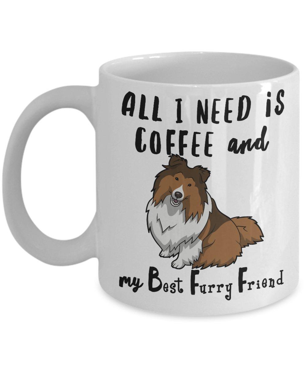 dog art Mug coffee cup Sheltie reading a Book 11 oz