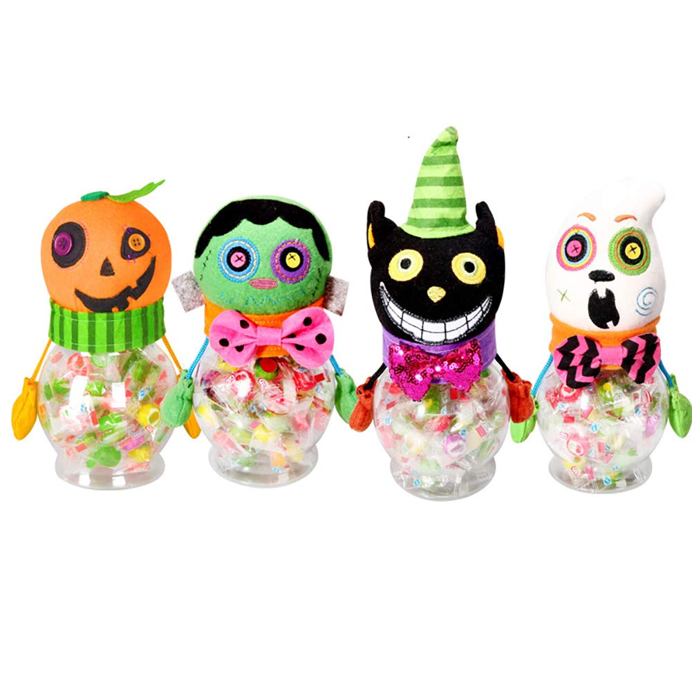 samLIKE Halloween Kids Doll Candy Sweet Jar Box Children Storage Cans Great for Halloween Trick-or-Treat A Funny Pumpkin Gift
