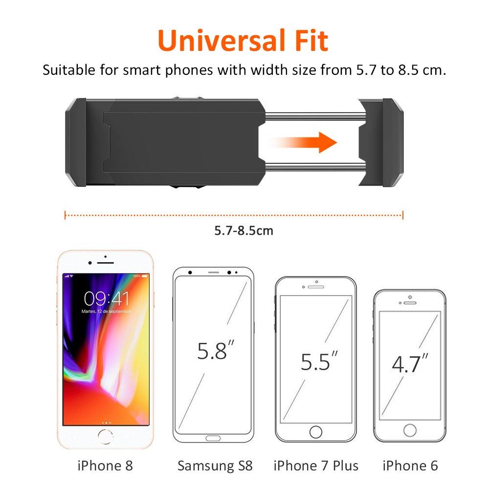 Samsung S9 S8 Sony Xiaomi Huawei y M/ás 360 Grados Rotaci/ón Base de Montaje Doble Bovon Soporte M/óvil Coche de Rejillas de Ventilaci/ón Soporte de Tel/éfonos para iPhone X XS MAX XR 8 7 6 Plus