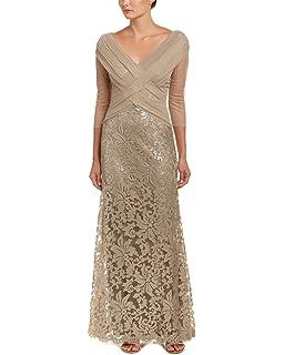 Amazoncom Tadashi Shoji Womens Blouson Embroidered Gown