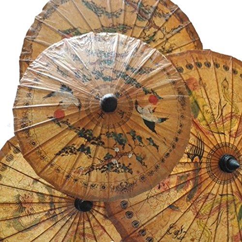 Umbrella Oiled Paper - Dollbling 22.8'' Printing Handmade Oiled Paper Umbrella 1pc(randomly send)