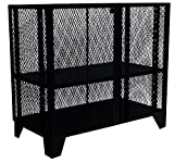 Jamco Products MF472-BL Heavy Duty Mesh Security Cabinet, 36'' x 72'', Powder Coated Black