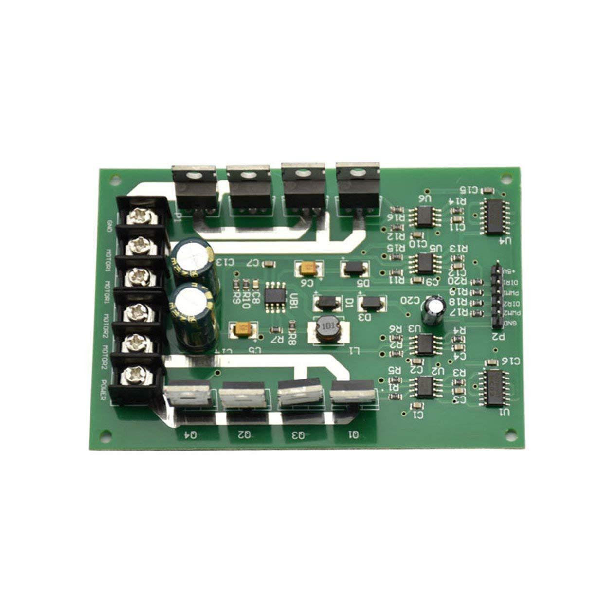 Verde 10A Placa del m/ódulo del controlador del motor H-Bridge DC MOSFET IRF3205 3-36V 10A Peak 30A
