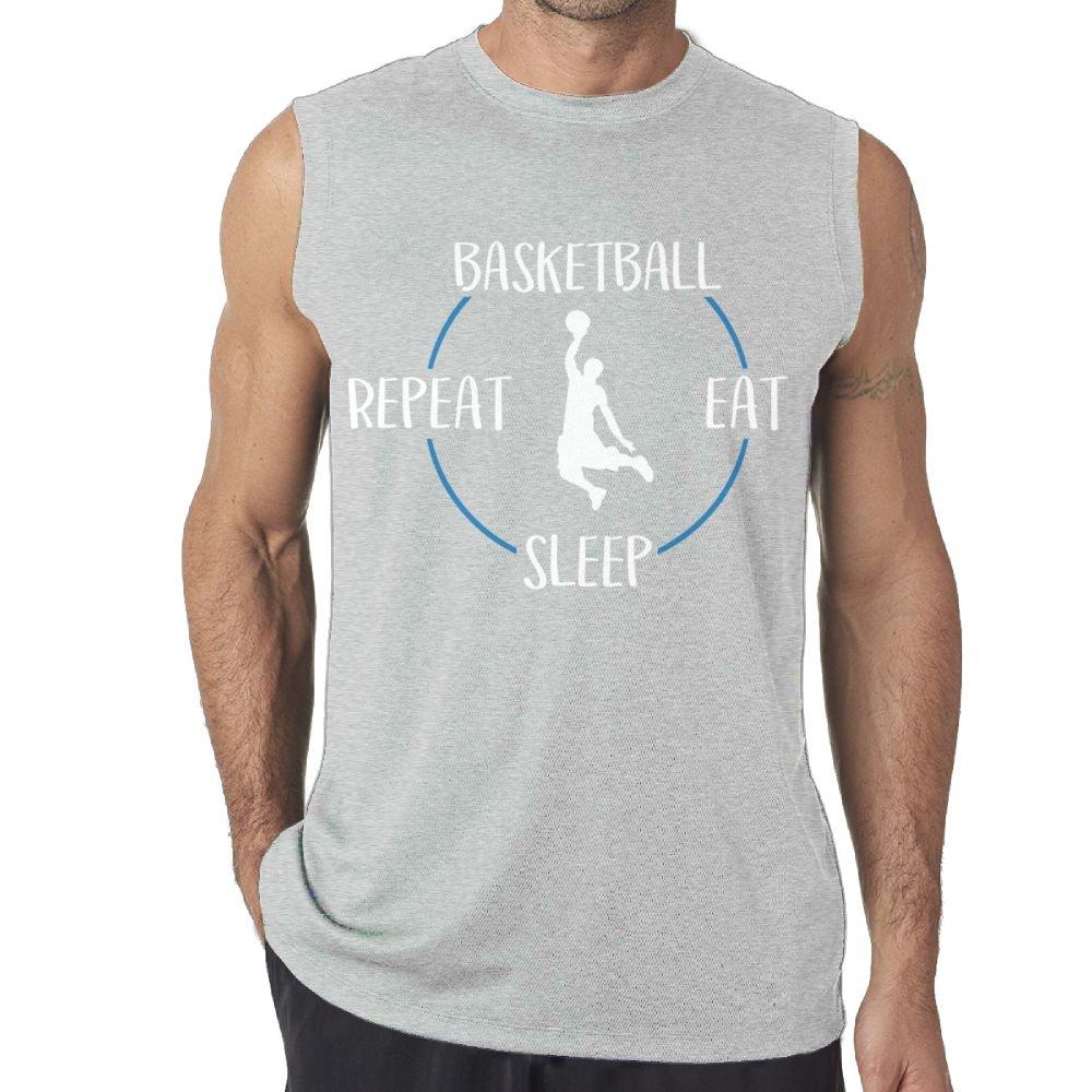 Oopp Jfhg Tank Tops Sleeveless Shirt Fit Mens Eat Sleep Dunk Repeat 6 Casual