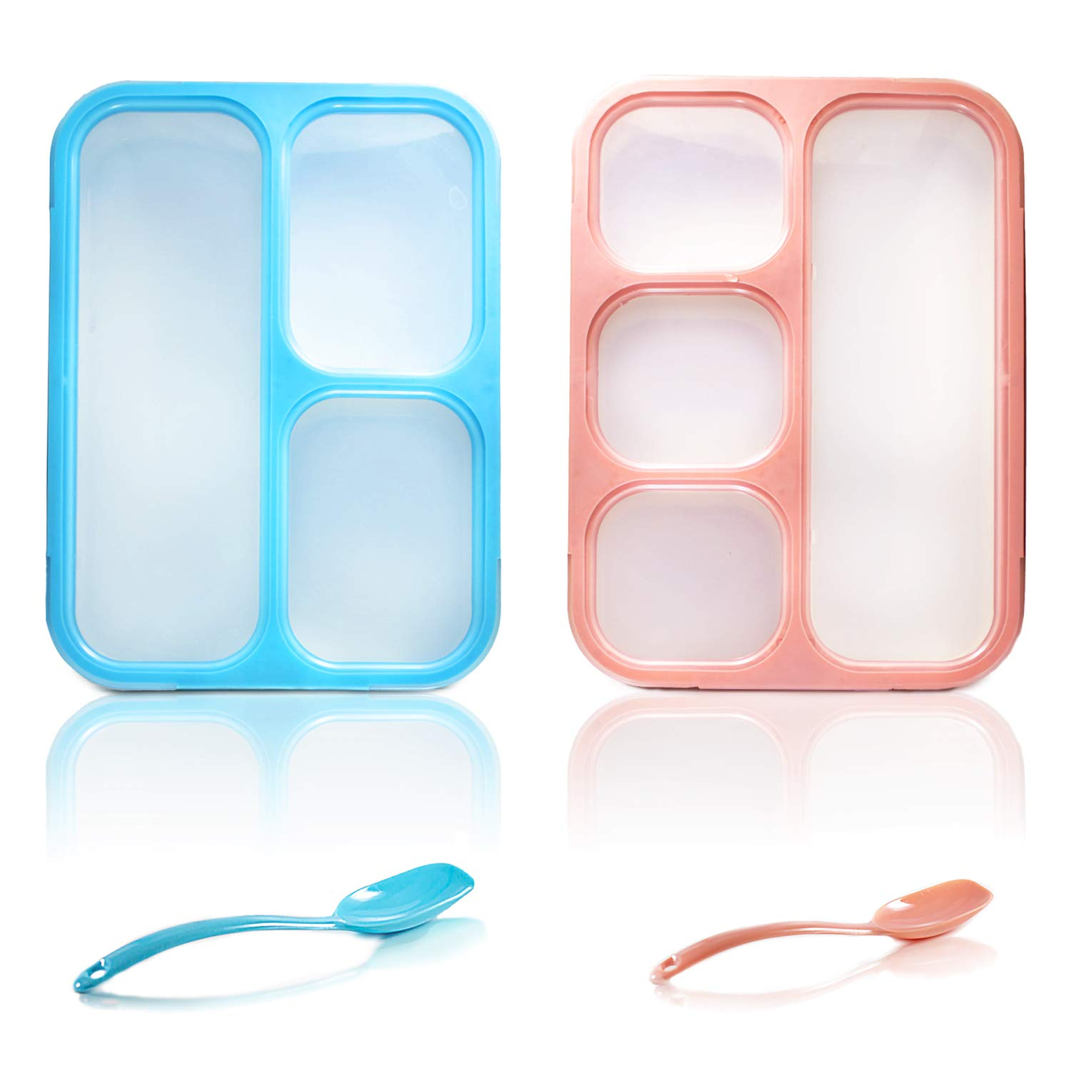 532545b0b151 Krama Fresh - Bento Lunch Box Kids 34 Oz, 3 and 4 Compartment, Lunchbox  Containers for Boys, Girls, Adults, Teens, Leak-proof Food Storage,  Microwave ...
