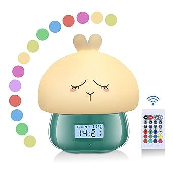 Reveil Enfant Fille Aursen Lapin Veilleuse Enfant Horloge Digitale