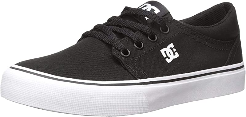 DC Shoes Trase Sneakers Herren Schwarz mit Weißer Außensohle