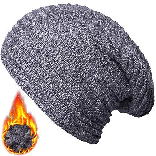 YSense Womens Winter Warm Knitting Slouchy Beanie Fleece Lined Hat