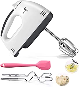 Electric Whisk, Eelectric Hand Whisk for Baking Turbo Hand Held Mixer Food Cake Mixer Blender for Whipping Mixing Cookies Food Beater, Egg, Cakes, Dough, Batters, Meringues & More