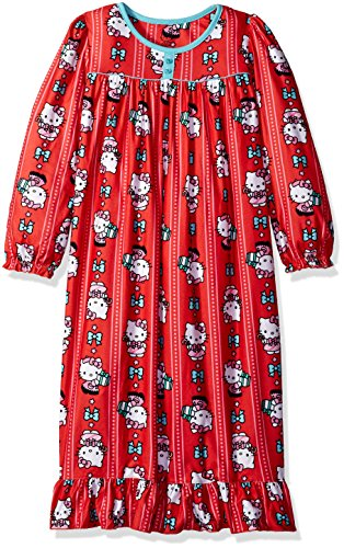 - Hello Kitty Big Girls' Holiday Granny Nightgown, Red, Small/6-6X