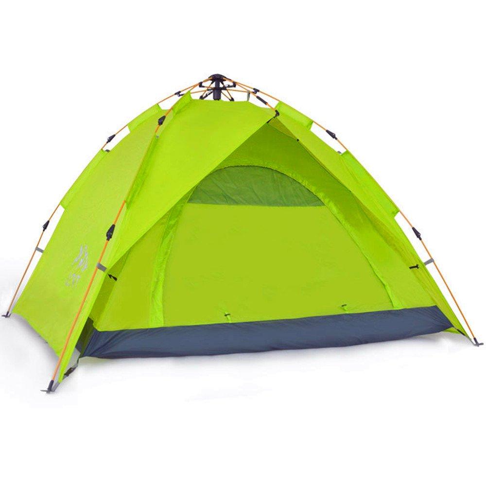 TLMY Zelt Im Freien 3-4 Personen Vollautomatische Zwei-Zimmer-Familien-Camping-Konten Wetterfeste Sonnencreme Zelte