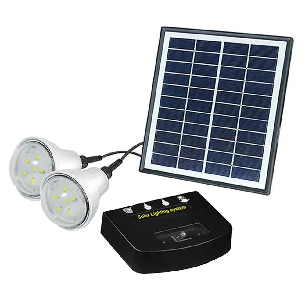 Marvelous Solar System Lighting Part - 7: Amazon.com: UPEOR Solar Lighting System Power Generator, Portable DC Light  Kit Solar Generator For Emergency Power Supply,Home U0026 Camping,Including  Solar ...