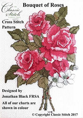 (Bouquet of Roses Cross Stitch Pattern)