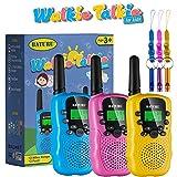 BATURU Walkie Talkies for Kids 3 Pack, 2 Way Radio Toy Walkie Talkie