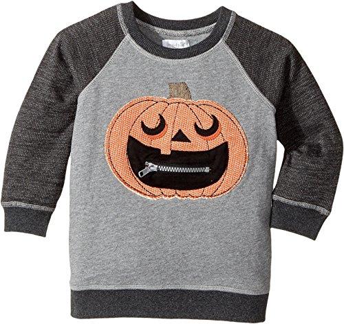 Mud Pie  Baby Boy's Halloween Pumpkin Sweatshirt (Infant/Toddler) Gray Small
