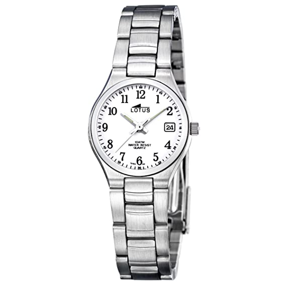 Lotus 15193-2 - Reloj de Pulsera de Mujer, Correa de Acero Inoxidable, Color Plata: LOTUS: Amazon.es: Relojes