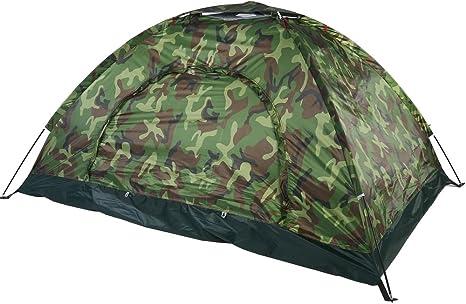 Filfeel Tienda de Campaña 2 Personas, Tienda de Camping Impermeable Anti Viento, protección UV, para Viajes en Familia, festividades, Senderismo, ...