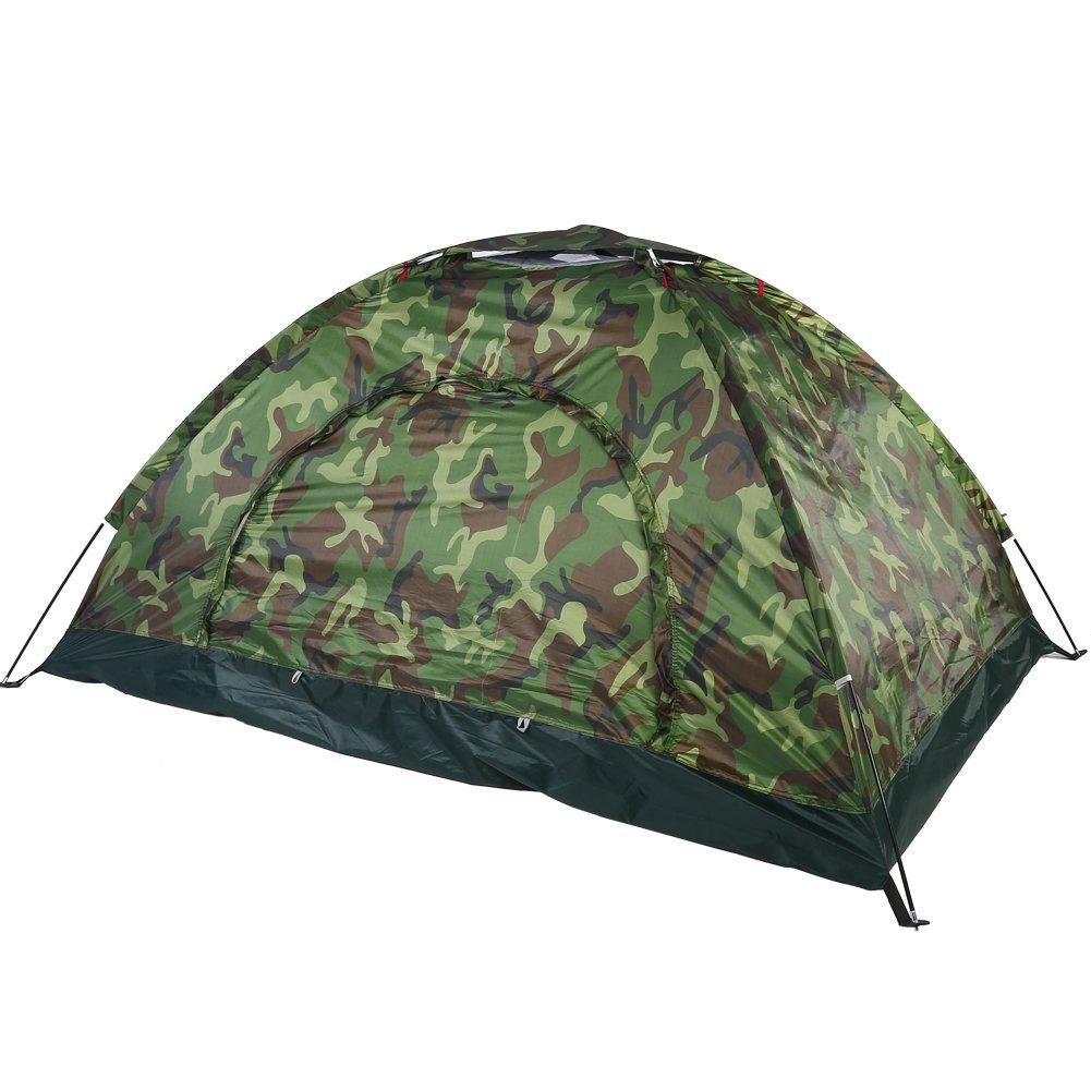 Dilwe Campingzelt Outdoor Camouflage UV-Schutz Wasserdicht 2 Personen Zelt f/ür Camping Wandern Rucksackreisen