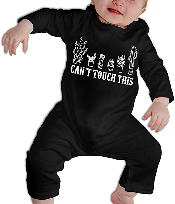 831655c7 Amazon.com: KAYERDELLE Can't Touch This Funny Cactus Long-Sleeve Unisex  Baby Playsuit For 6-24 Months Infant: Clothing