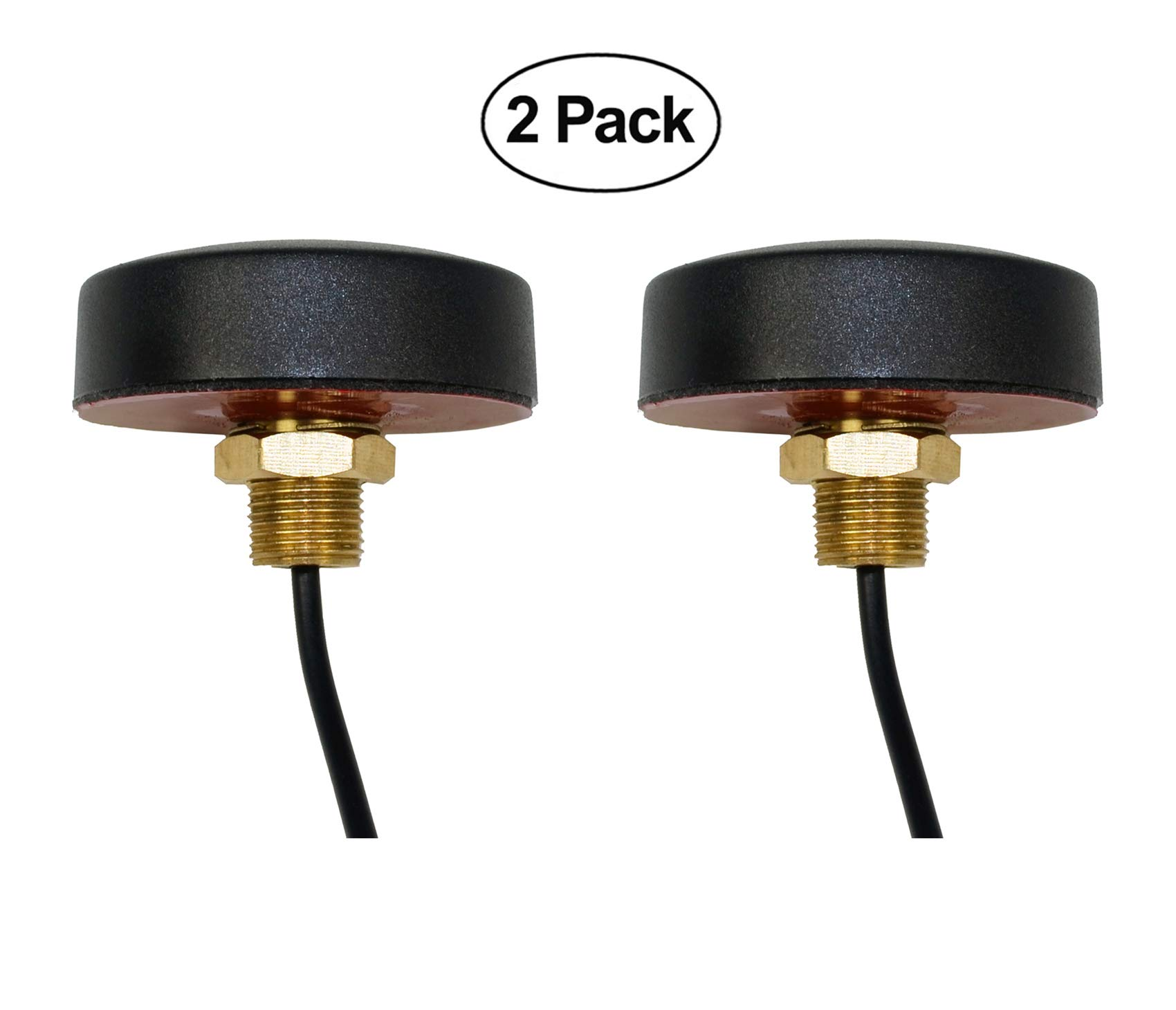 Proxicast Ultra Low-Profile 3G / 4G LTE Cellular/PCS Omni-Directional 2 dBi Screw-Mount Antenna for Verizon, AT&T, Sprint (2 Pack)