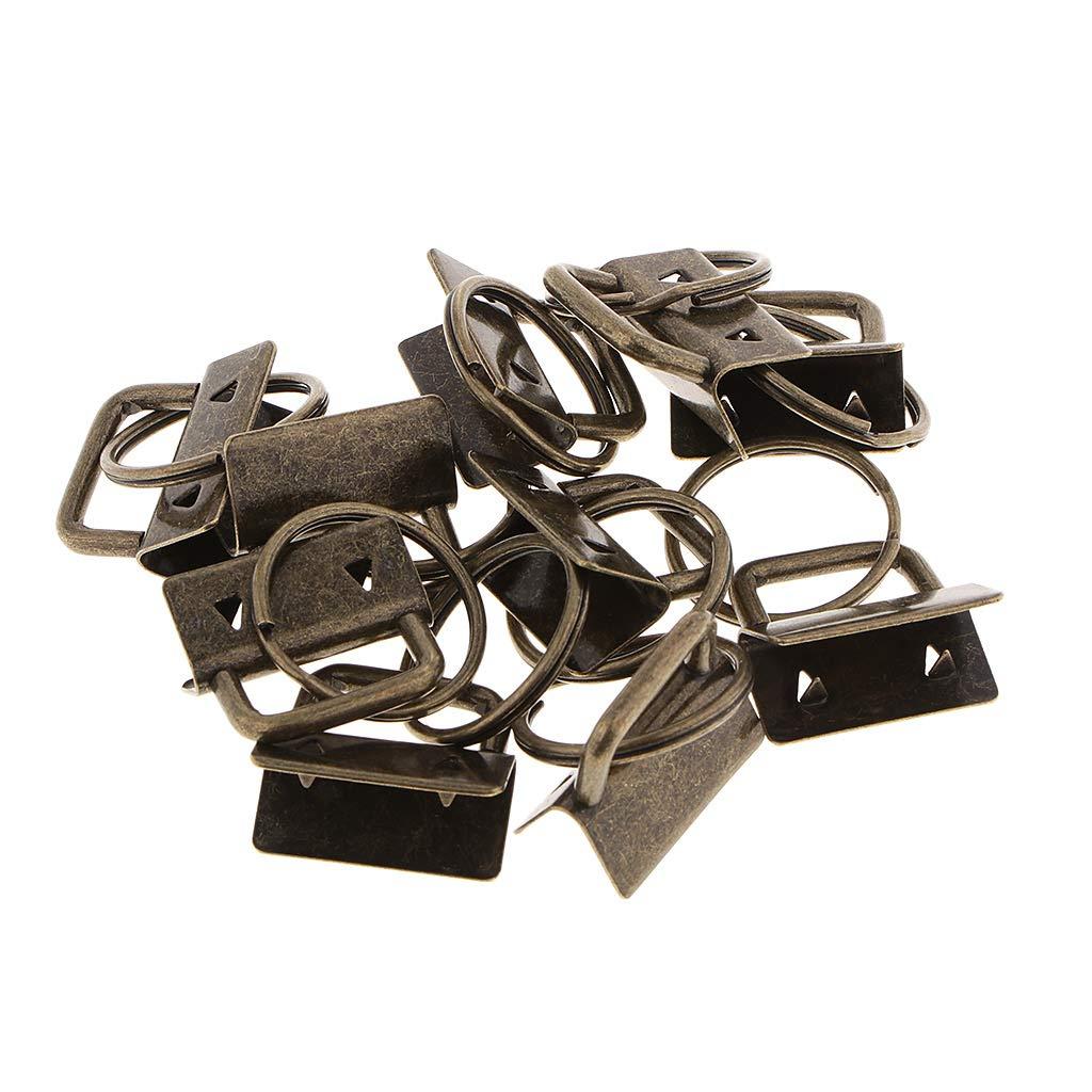 Metall Verschlussspangen Crimp End Clamps Cord Ends 20pcs Gurtband Endet Tipp Mit Ring
