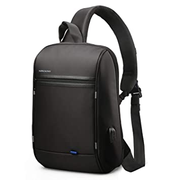49a866c1fd85 Amazon.com  Anti Theft Single Shoulder 13-Inch Laptop Backpack Waterproof  Coss-body Sling Bag with USB Charging Port  WINKING seller