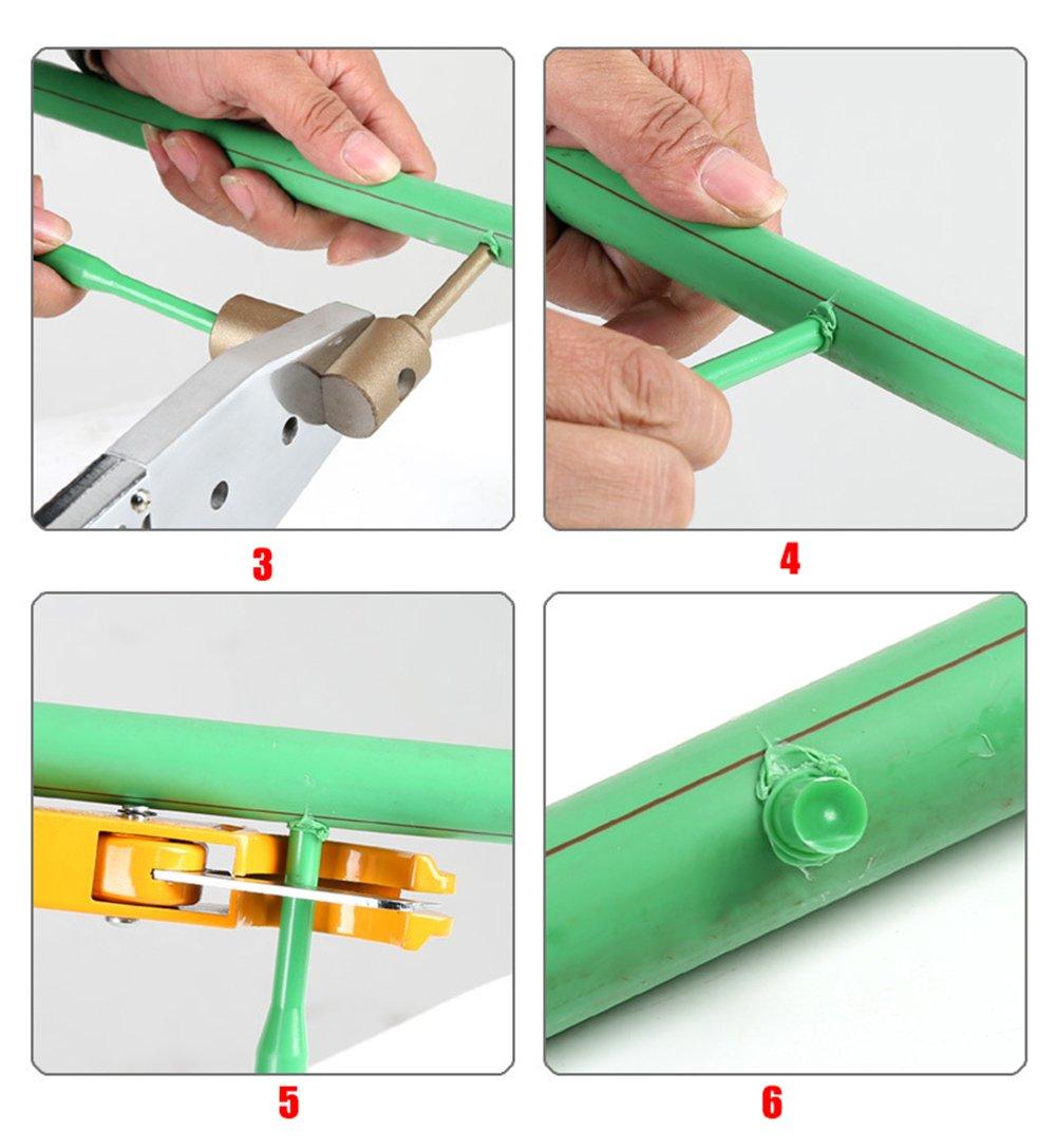 ZLUCK Water Pipe Repair Tools, Leak - Mending, Hole - Mending, Fuser, Welding Die, Glue Stick Repair Tools, PE/PPR / Pb/PVC Small-Scale Welding Pipe Repair Work (7 Mm - 11 Mm),A by ZLUCK (Image #6)