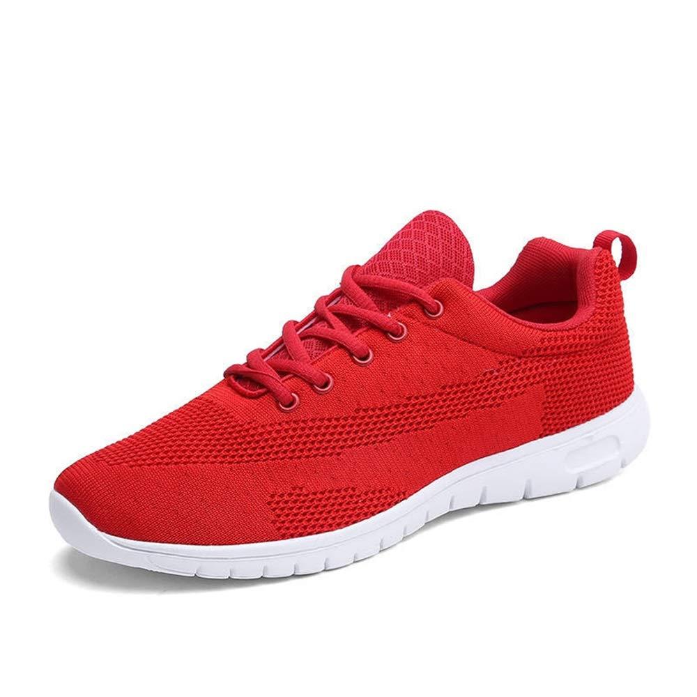 Jincosua Laufende Trainer-weiche Sohle-Nicht Beleg-beiläufige beiläufige Breathable Multi Sport-Schuhe der Männer (Farbe   Rot, Größe   EU 44)
